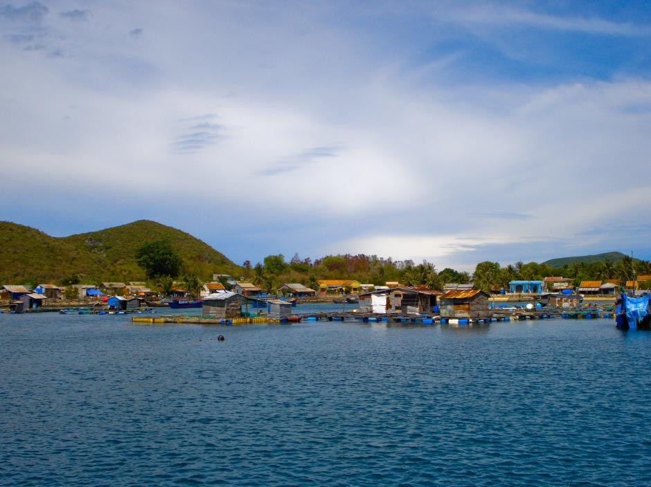 Vibrant scenery off the shores of Nha Trang, Vietnam