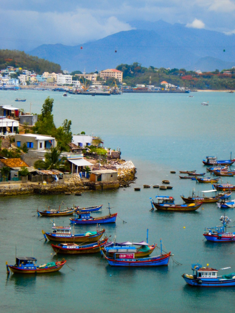 A small fishing harbor near Nha Trang, Vietnam