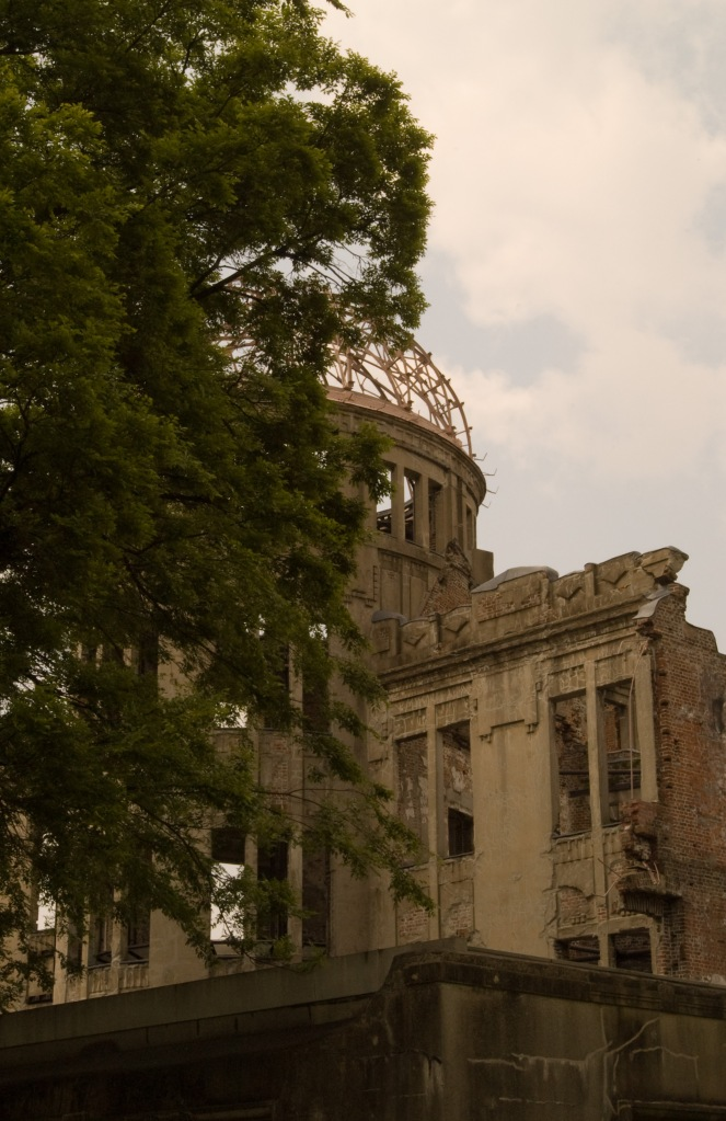 A haunting silhouette in Hiroshima