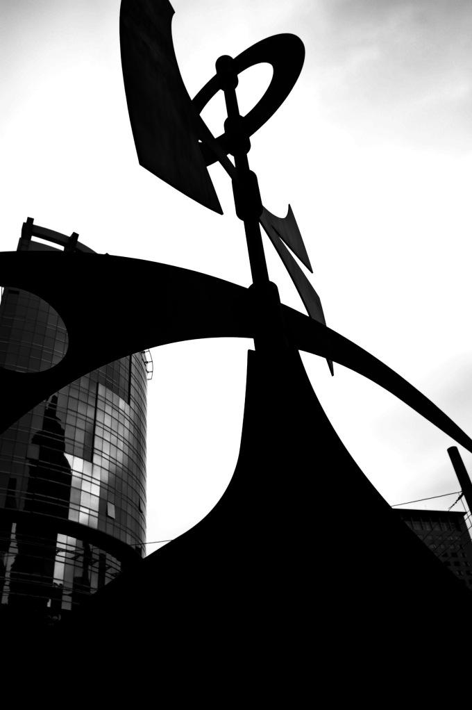 A sculpture in the Jing'an Sculpture Park