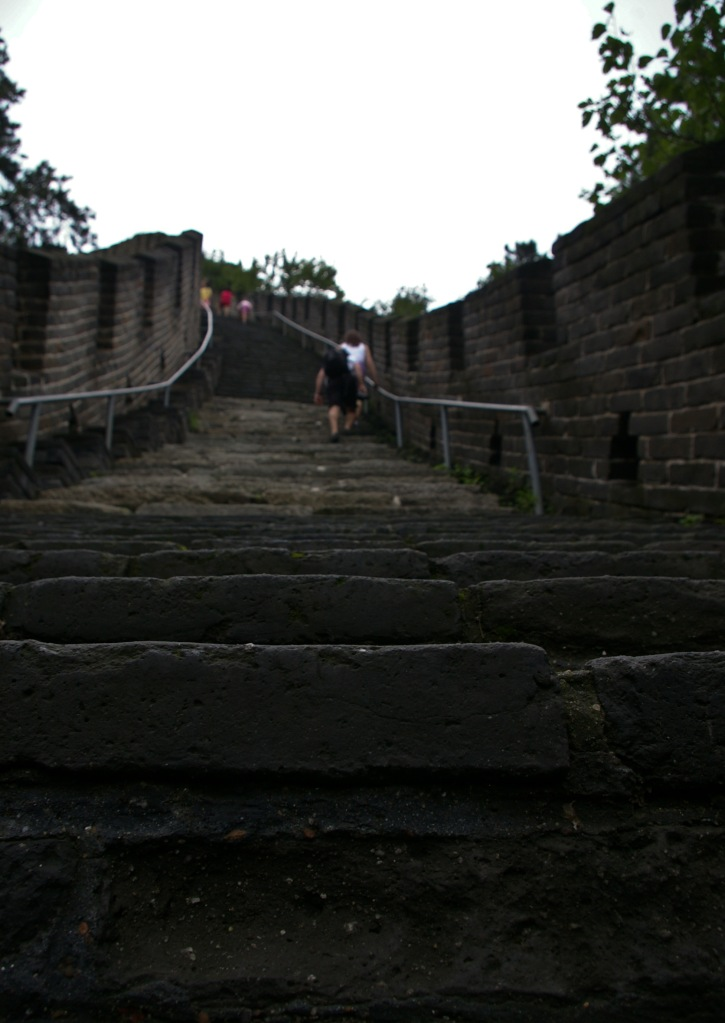 One of countless stairways along the Great Wall of China