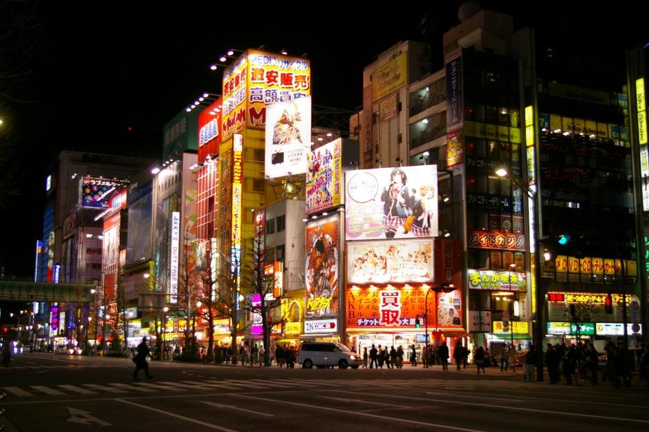 Akihabara glowing in the dark