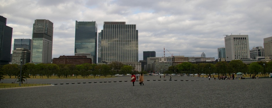 Two women return to the city from the Imperial Palace