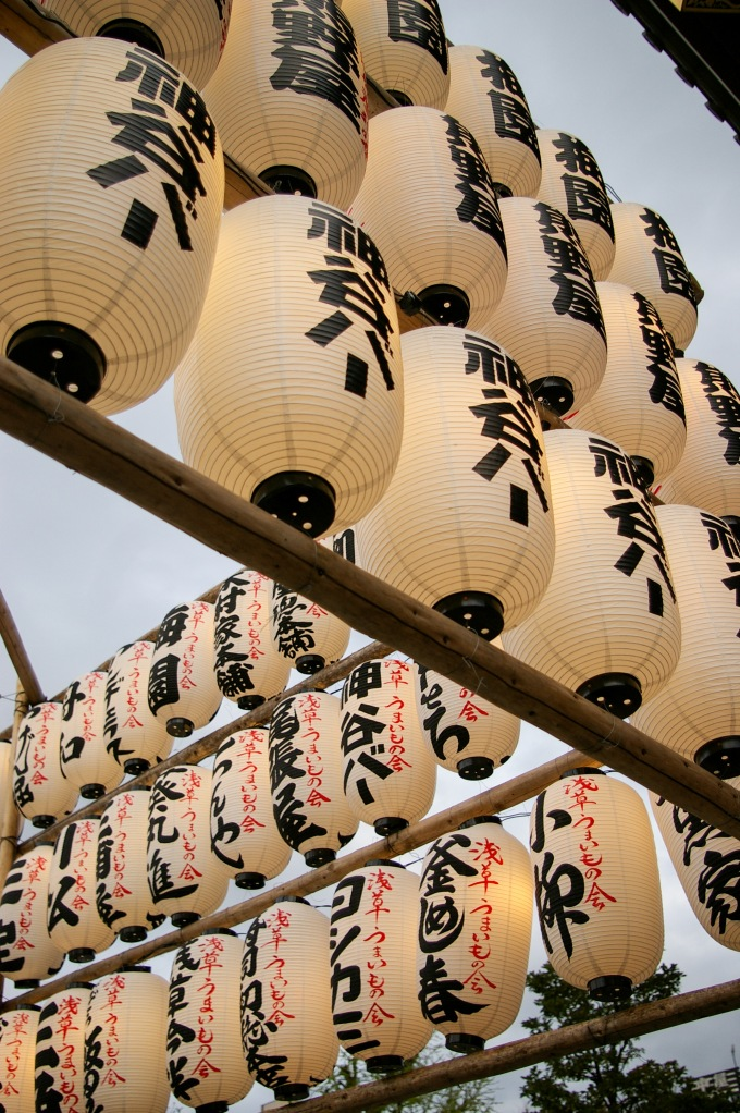 Lanterns near the Senso-ji Temple