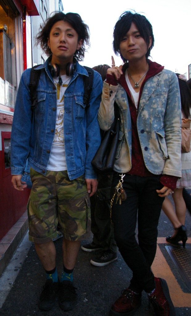 Young men in Harajuku wait for admirers