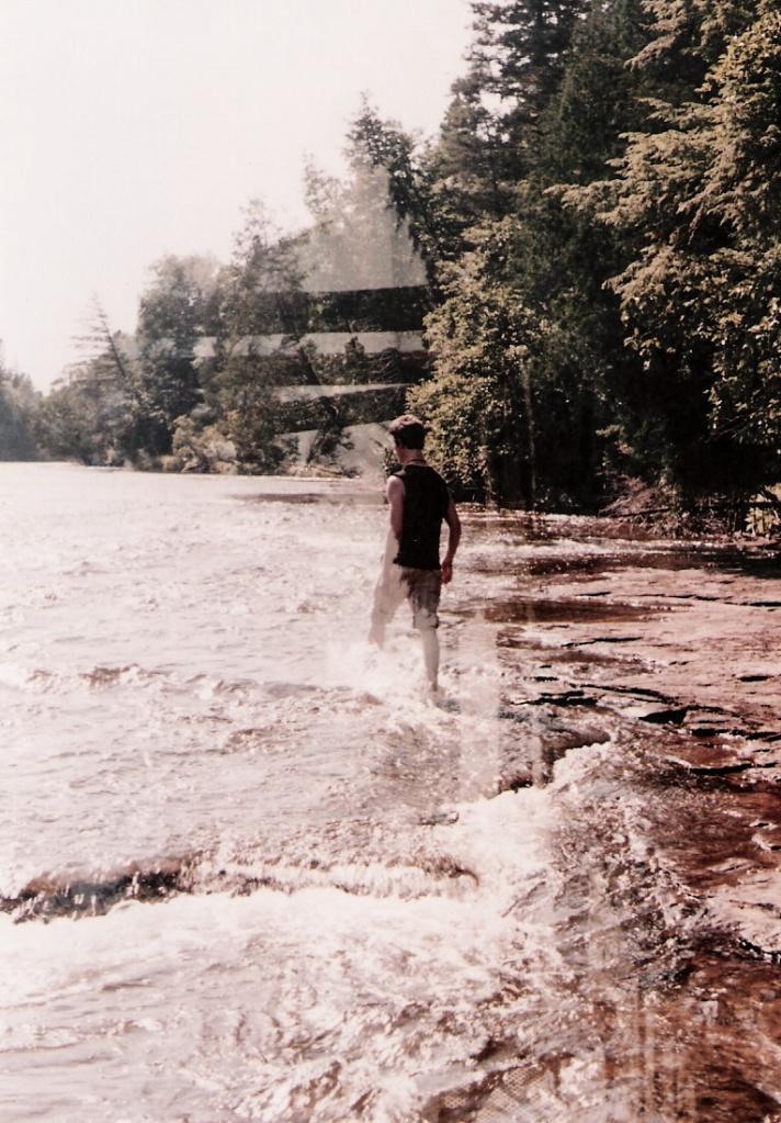 Playing in the waters near Tahquamenon Falls, MI